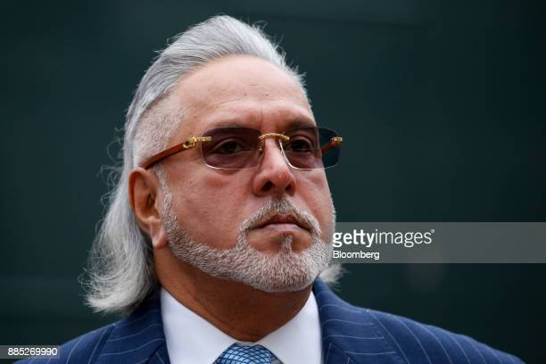 Vijay Mallya founder and chairman of Kingfisher Airlines Ltd stands outside Westminster Magistrates' Court after it was evacuated in London UK on...