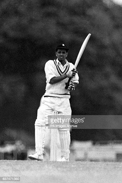 Vijay Manjrekar batting for the tourists.