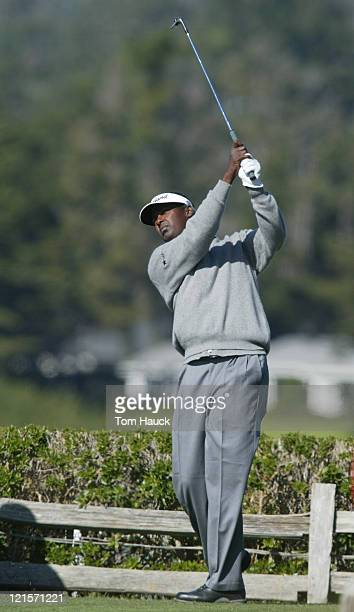 Vijay Signh on the 7th tee of the Pebble Beach Golf Links during the final round of PGA TOUR2004 ATT Pebble Beach National ProAM in Pebble Beach CA