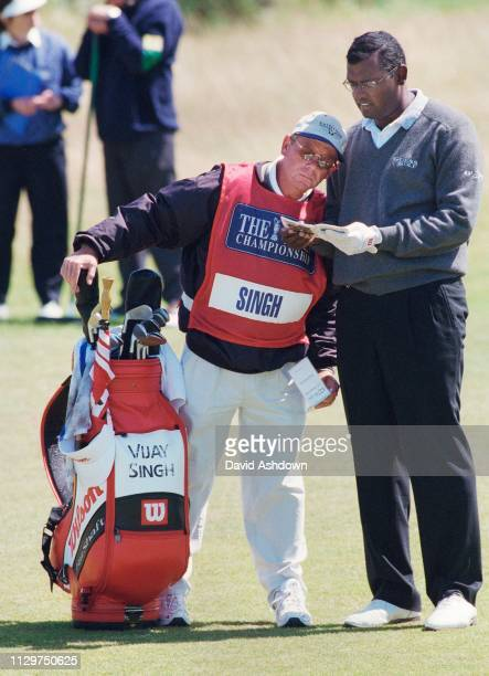 Vijay Singh and caddie Dave Renwick during the 127th British Open Golf at Royal Birkdale GC in Southport 16th19th July 1998