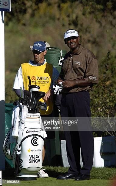 Vijay Singh during the first round of the Target World Challenge Presented By Williams at Sherwood Country Club in Thousand Oaks California on...