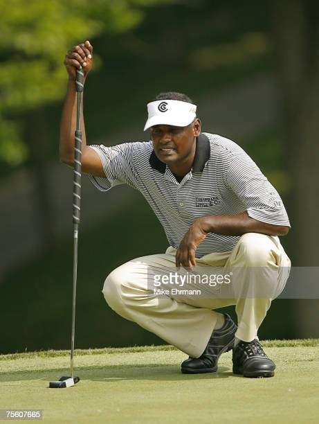 Vijay Singh during the second round of the Memorial Tournament Presented by Morgan Stanley held at Muirfield Village Golf Club in Dublin, Ohio, on...