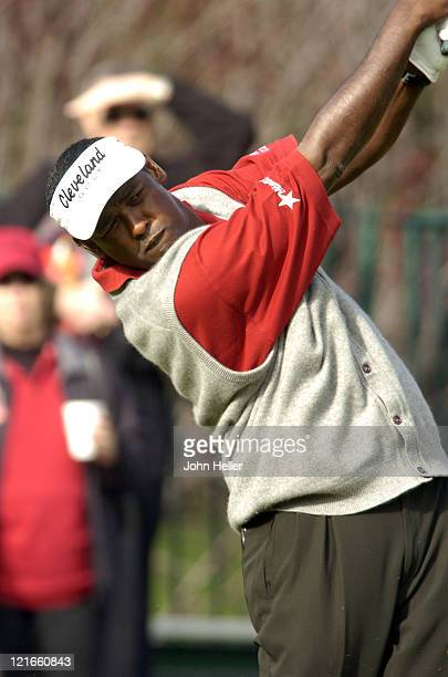 Vijay Singh during the Target World Challenge Pro Am at Sherwood Country Club in Thousand Oaks California on December 8 2004