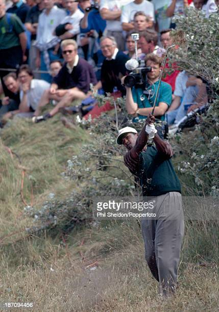 Vijay Singh of Fiji playing out of the rough during the British Open Golf Championship held at the Royal Birkdale Golf Club in Southport 21st July...