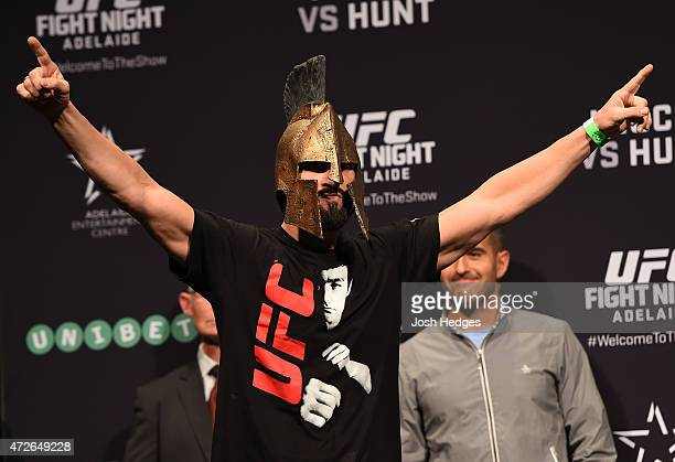 Vik Grujic of Australia weighs in during the UFC weighin event at the Adelaide Entertainment Centre on May 9 2015 in Adelaide Australia