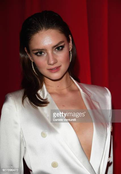 Vika Levina attends Elton John AIDS Foundation 26th Annual Academy Awards Viewing Party at The City of West Hollywood Park on March 4 2018 in Los...