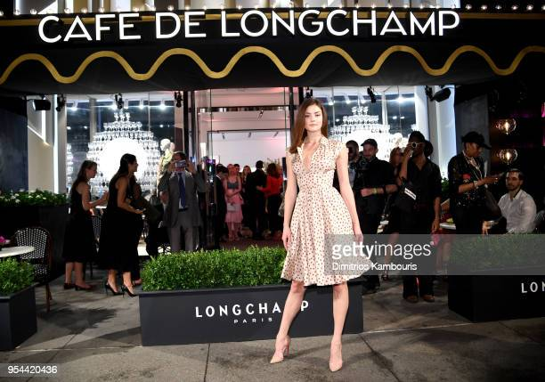 Vika Levina attends the opening of Longchamp Fifth Avenue Flagship at Longchamp on May 3 2018 in New York City