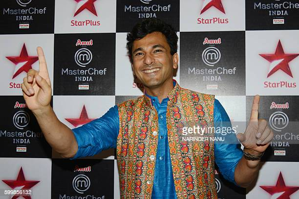 Vikas Khanna MasterChef India host and executive chef of Junoon restaurant in New York poses for the media during a promotional event for the...