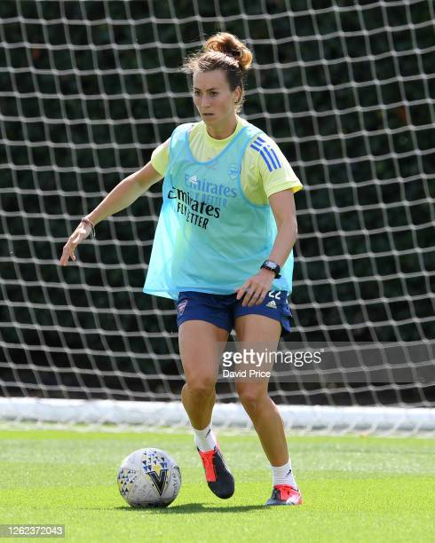 Viki Schnaderbeck of Arsenal during the Arsenal Women training session at Arsenal Academy on July 29 2020 in Walthamstow England