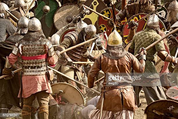 viking battle - ancient history stock pictures, royalty-free photos & images