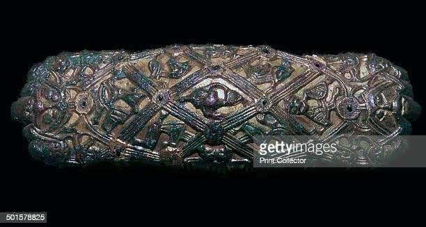 Viking gilt bronze brooch at the University Historical Museum Oslo