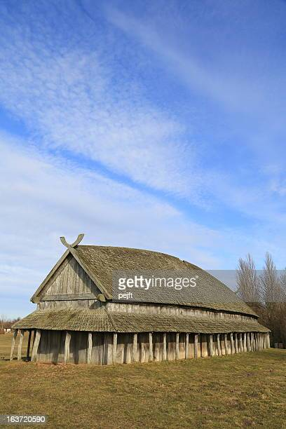 Viking Longhouse at Trelleborg circular fort, Denmark