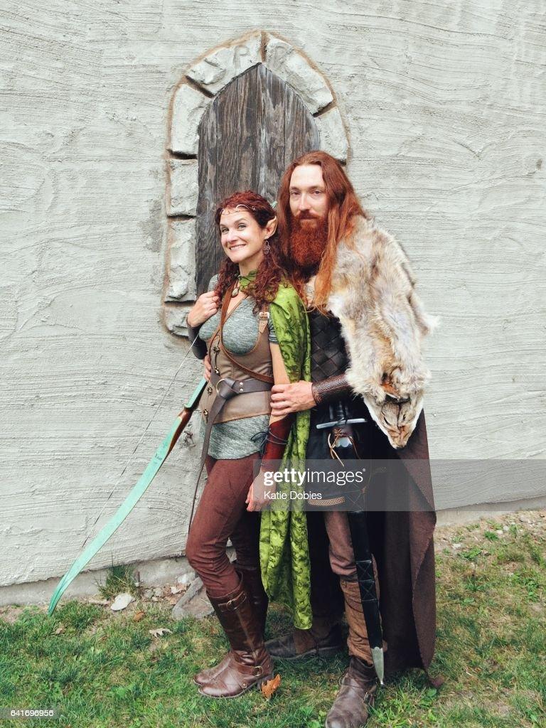 Viking Norse Medieval Mythology Warrior Female Archer Elf