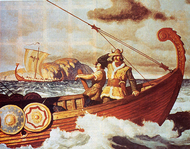 Viking sailors make the long voyage across the Atlantic...