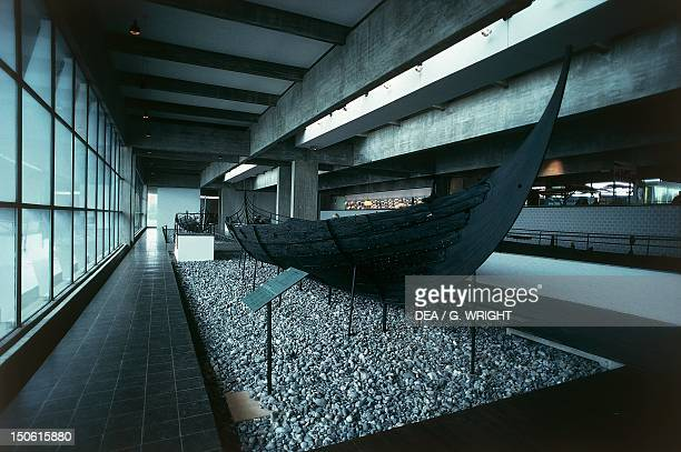 Viking ship at the viking ship museum in Roskilde Denmark Viking Civilization 8th11th century
