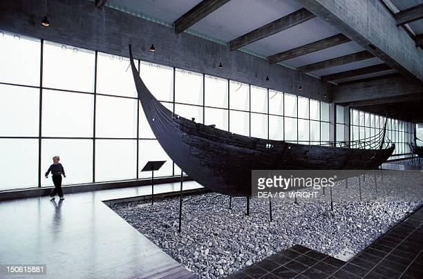 Viking ship at the viking ship museum in Roskilde Denmark Viking Civilization 8th11th century