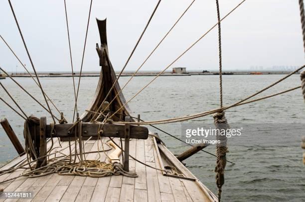 Viking style vieux bateau.
