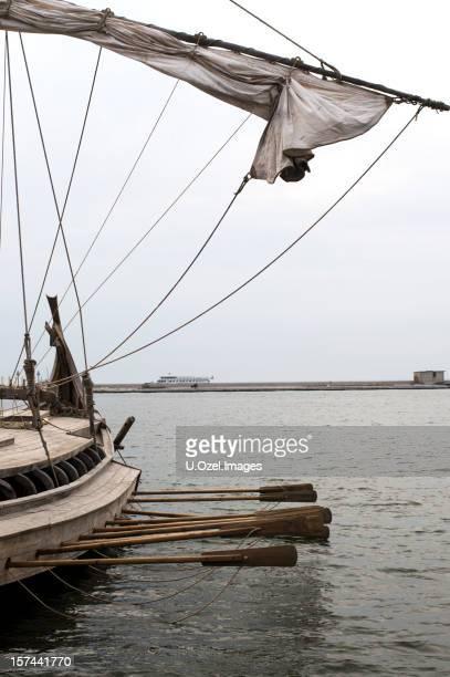 Viking style voilier série d'images.