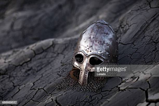 Viking sword, helmet and equipment