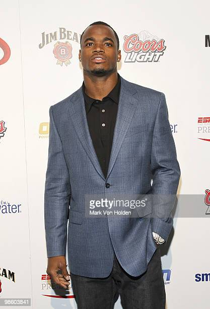 Viking's Adrian Peterson attends ESPN the Magazine's 7th Annual PreDraft Party at Espace on April 21 2010 in New York City