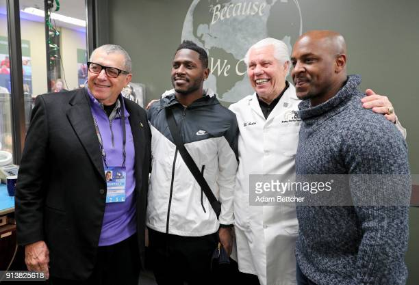 Vikings coowner Lenny Wilf NFL player Antonio Brown Starkey Hearing Technologies Founder and CEO Bill Austin and former NFL player Erik Coleman...