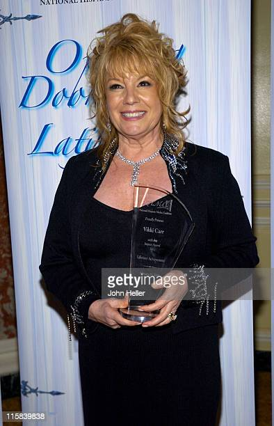 Vikki Carr NHMC Lifetime Award Reciipient during 2005 Impact Awards Gala at Bevely Wilshire in Beverly Hills California United States