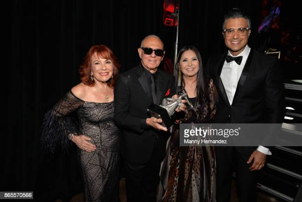 Vikki Carr Roberto Livi Ana Gabriel and Jaime Camil at the 5th Annual Latin Songwriters Hall Of Fame's La Musa Award at James L Knight Center on...