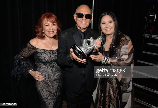 Vikki Carr Roberto Livi and Ana Gabriel at the 5th Annual Latin Songwriters Hall Of Fame's La Musa Award at James L Knight Center on October 19 2017...