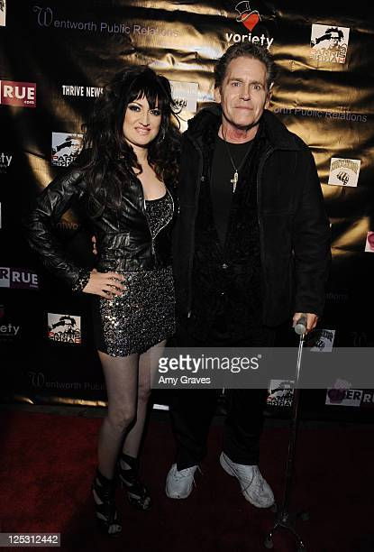 Vikki Lizzi and Jeff Conaway attend Cher Rue's Annual Christmas Charity Event at Ecco Lounge on December 4 2010 in Los Angeles California