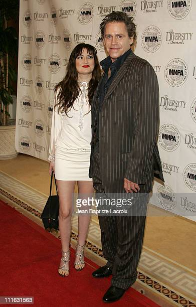 Vikki Lizzi and Jeff Conaway during 14th ANNUAL STUDENT FILMMAKERS PREOSCAR SCHOLARSHIP LUNCHEON at Peninsula Hotel in Beverly Hills California...