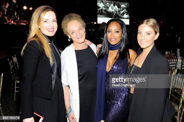 Vikki Tobak Kathleen Cleaver Alina Willis and Stacy Stickels attend the Gordon Parks Foundation Awards Dinner Auction at Cipriani 42nd Street on June...