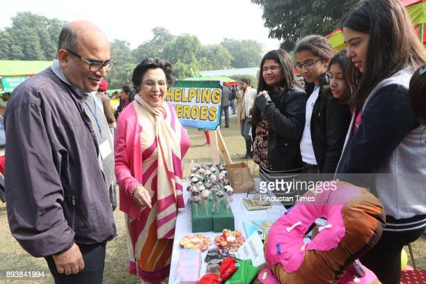 Vikram and Shayama Chona during the Winter Carnival 2017 organised by NGO Tamanna at the Residence of British High Commissioner on December 15 2017...