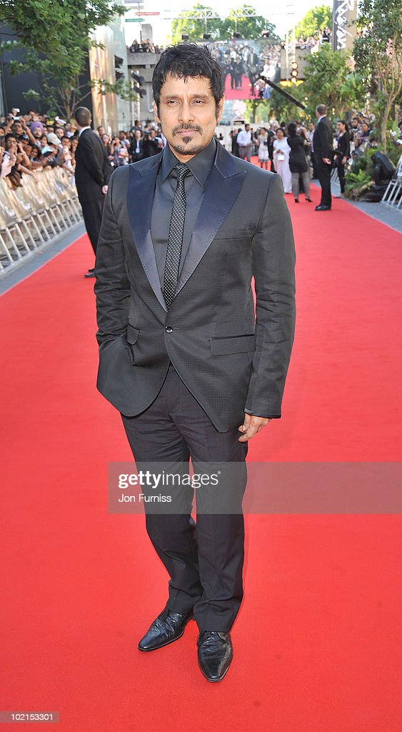 Vikram arrives at the London premiere of 'Raavan' at BFI Southbank on June 16, 2010 in London, England.
