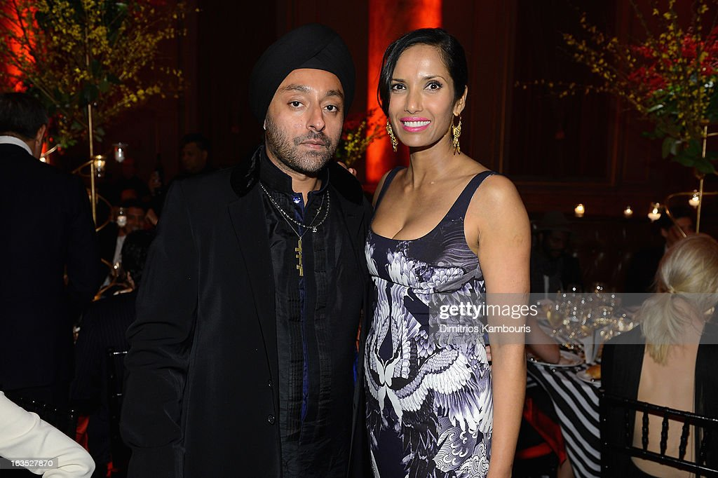 Vikram Chatwal and TV Personality Padma Lakshmi attend The Endometriosis Foundation of America's Celebration of The 5th Annual Blossom Ball at Capitale on March 11, 2013 in New York City.