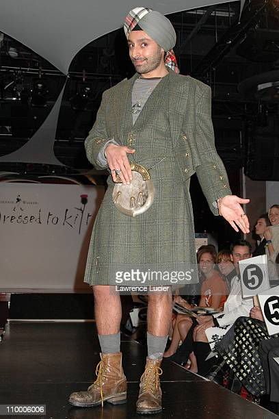 Vikram Chatwal during Johnnie Walker Presents Dressed to Kilt Arrivals and Runway at Copacabana in New York City New York United States