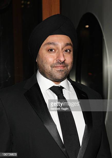 Vikram Chatwal poses for a picture during Vikram Chatwal's 40th Birthday celebration at Romera at the Dream Downtown on October 28 2011 in New York...