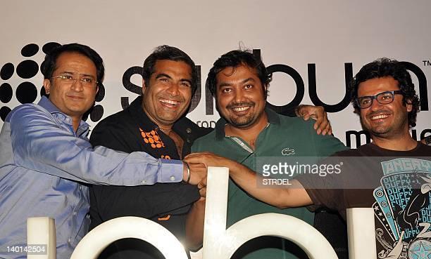 Vikram Malhotra Shailendra Singh Anurag Kashyap and Vikas Bahl pose for photographers at a press conference in Mumbai on February 28 2012 AFP...