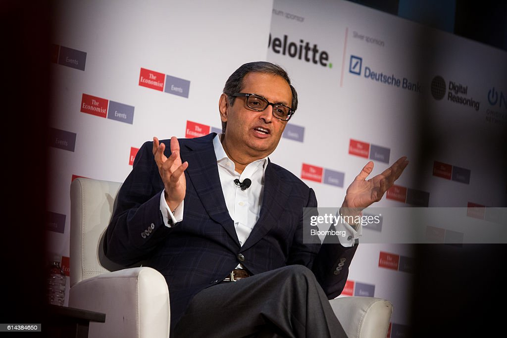 Vikram Pandit, chairman and chief executive officer of the Orogen Group LLC, speaks during The Economist's Finance Disrupted conference in New York, U.S., on Thursday, Oct. 13, 2016. The conference will explore what the digital revolution means for finance and the broader economy. Photographer: Michael Nagle/Bloomberg via Getty Images