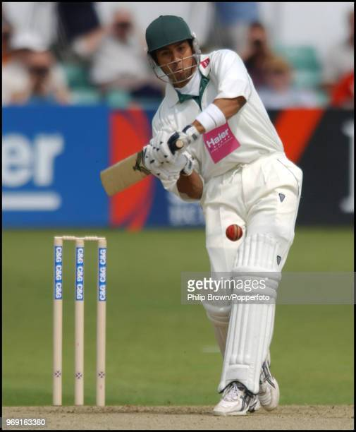 Vikram Solanki of Worcestershire hits out during his innings of 60 runs in the CG Trophy match betwenn Worcestershire and Yorkshire at New Road...