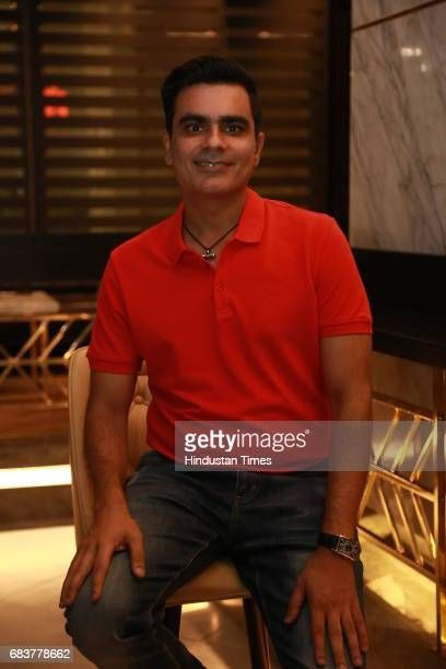 Vikrant Batra during special dinner for Royal Challengers Bangalore teammates by Virat Kohli at his new restaurant Nueva RK Puram on May 12 2017 in...