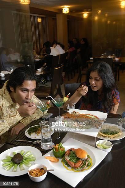 Vikrant Mahajan and Ronika Kandhari Dining at Mainland China Restaurant in New Delhi India