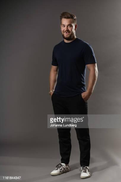 Viktor Arvidsson of the Nashville Predators poses for a portrait during the NHL European Media Tour on August 15 2019 in Stockholm Sweden