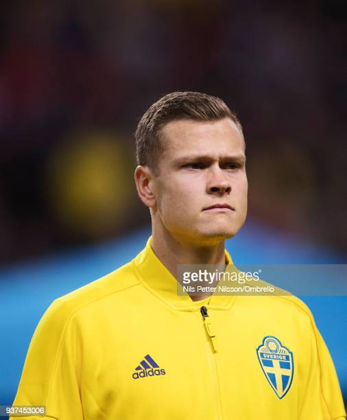 Viktor Claesson of Sweden ahead of the International Friendly match between Sweden and Chile at Friends arena on March 24 2018 in Solna Sweden