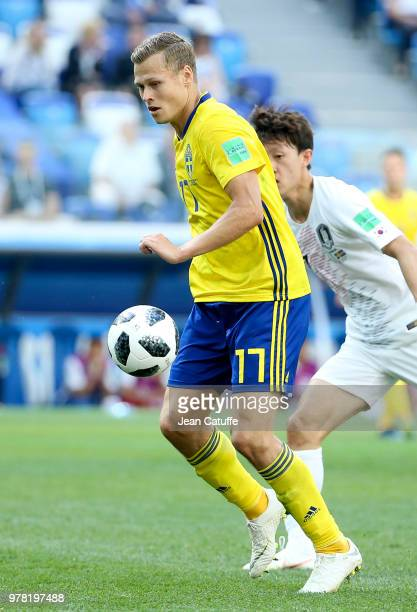 Viktor Claesson of Sweden during the 2018 FIFA World Cup Russia group F match between Sweden and Korea Republic at Nizhniy Novgorod Stadium on June...