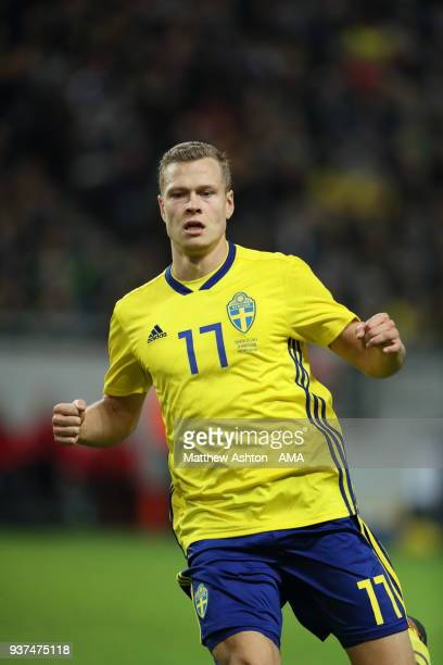 Viktor Claesson of Sweden during the International Friendly match between Sweden and Chile at Friends arena on March 24 2018 in Solna Sweden