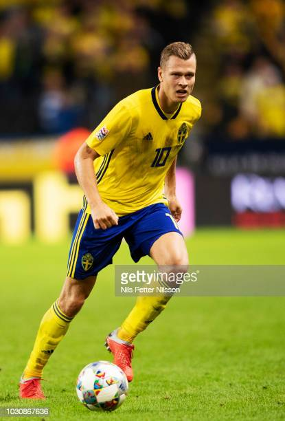 Viktor Claesson of Sweden during the UEFA Nations League B group two match between Sweden and Turkey on September 10 2018 at Friends Arena in Solna...