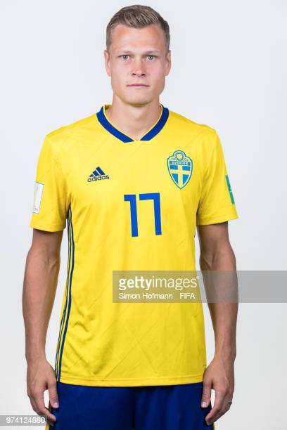Viktor Claesson of Sweden poses during the official FIFA World Cup 2018 portrait session on June 13 2018 in Gelendzhik Russia