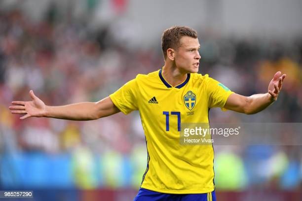 Viktor Claesson of Sweden reacts during the 2018 FIFA World Cup Russia group F match between Mexico and Sweden at Ekaterinburg Arena on June 27 2018...