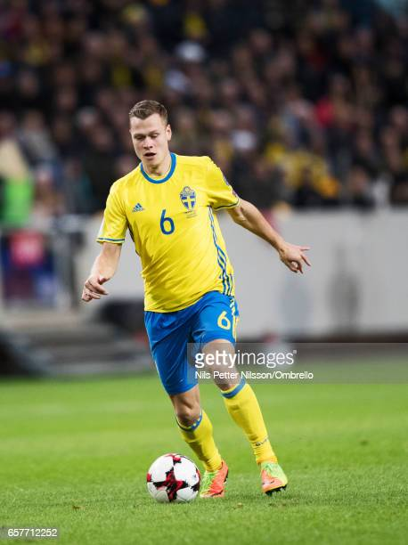 Viktor Claessonof Sweden during the FIFA 2018 World Cup Qualifier between Sweden and Belarus at Friends arena on March 25 2017 in Solna