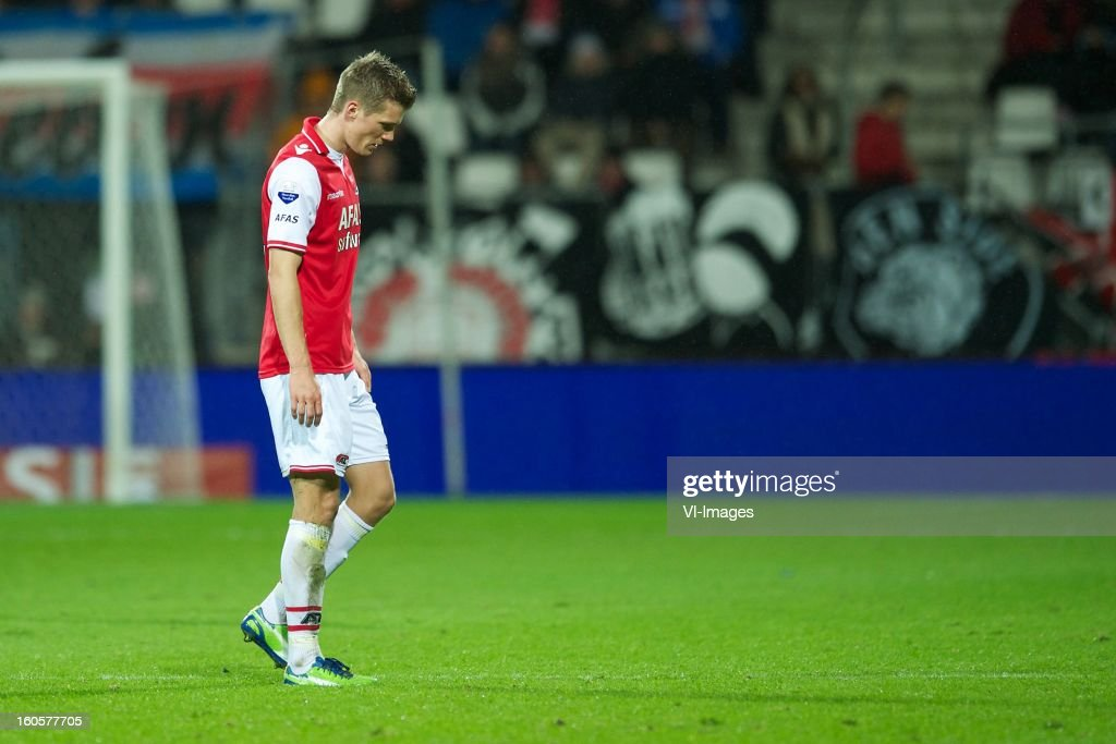 Viktor Elm of AZ during the Dutch Eredivisie match between AZ Alkmaar and FC Groningen at the AFAS Stadium on february 2, 2013 in Alkmaar, The Netherlands